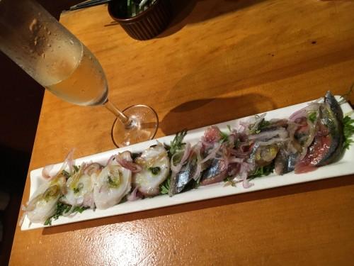 立ち飲みバーSIN 秋刀魚のカルパッチョ
